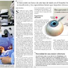La falta de donantes frena el éxito del transplante de córnea en Chile